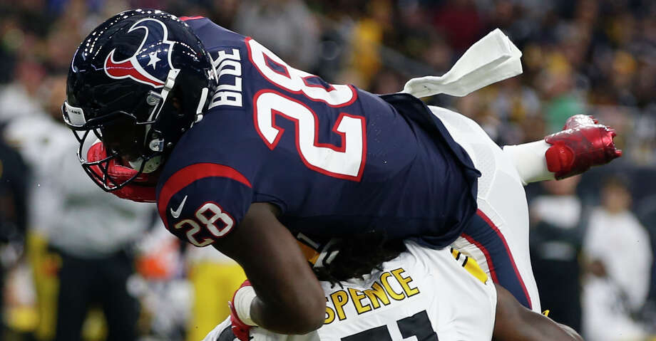 Alfred Blue was a consistent force on offense in the Texans' loss to the Steelers on Monday. Photo: Brett Coomer/Houston Chronicle