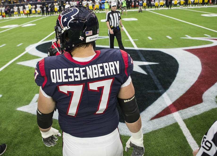 Texans offensive guard David Quessenberry (77) is a cancer survivor, so he knows exactly what general manager Rick Smith's wife Tiffany will face now that she is battling breast cancer. Photo: Brett Coomer/Houston Chronicle