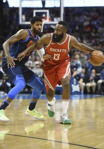 04a675bfdad5  p Houston Rockets  James Harden (13) pushes past Oklahoma City Thunder s