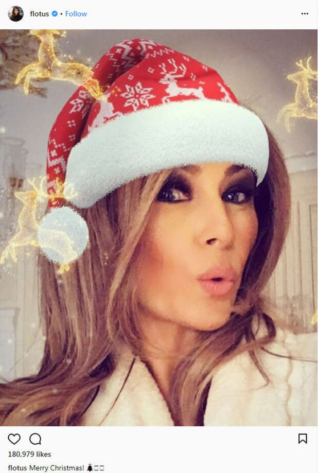First Lady Melania Trump got into the holiday spirit on social media with a Christmas-themed selfie. She is among the many Trump family members who wished all a Merry Christmas on Monday, Dec. 26, 2017. Continue through the photos to see how the other Trump family members celebrated the holidays.Source: Instagram Photo: Instagram
