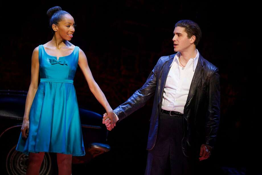 "Christiani Pitts and Adam Kaplan play star-crossed lovers in ""A Bronx Tale."" Photo: Joan Marcus / Contributed Photo"