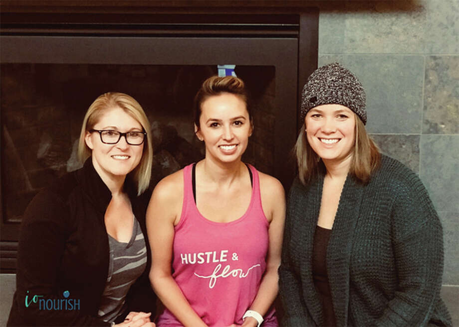 Iron Orchid Studio owners Christal Laswell, left, and Bree Barnes with nutrionist Kelsey Albers. Photo: For The Intelligencer