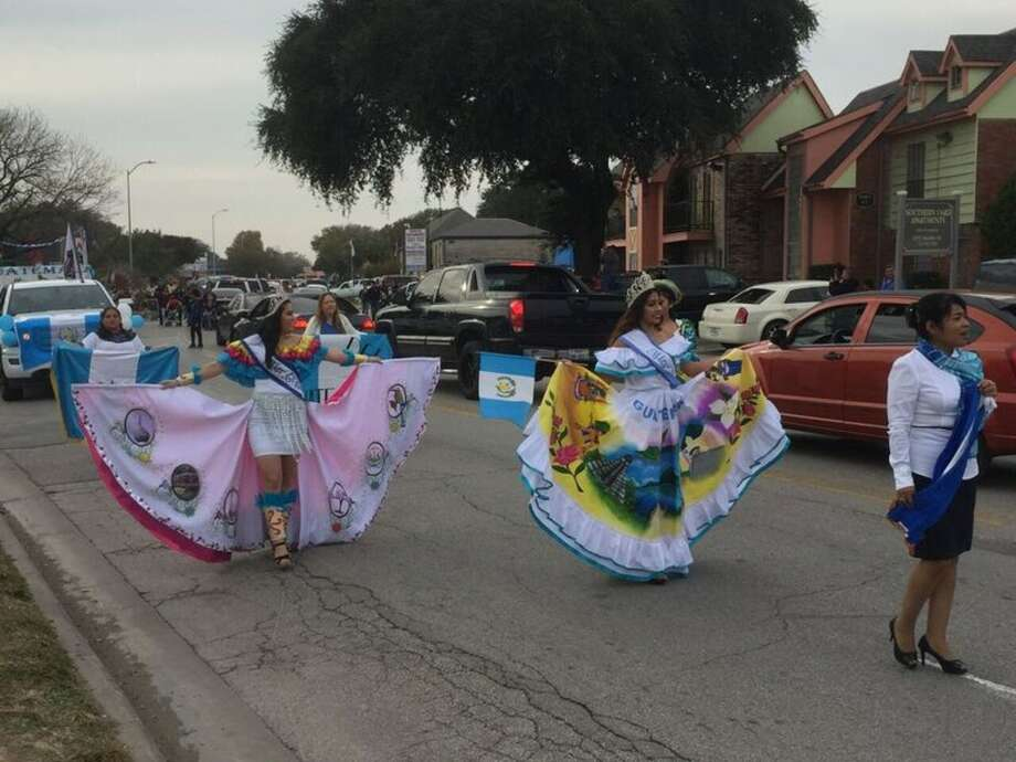 Hundreds of community members gathered in Southwest Houston to join the fourth annual Guatemala Parade in partnership with the Bayou Preservation Association to use the parade to help promote the Trash Free Bayou program. Photo: Courtesy Photo