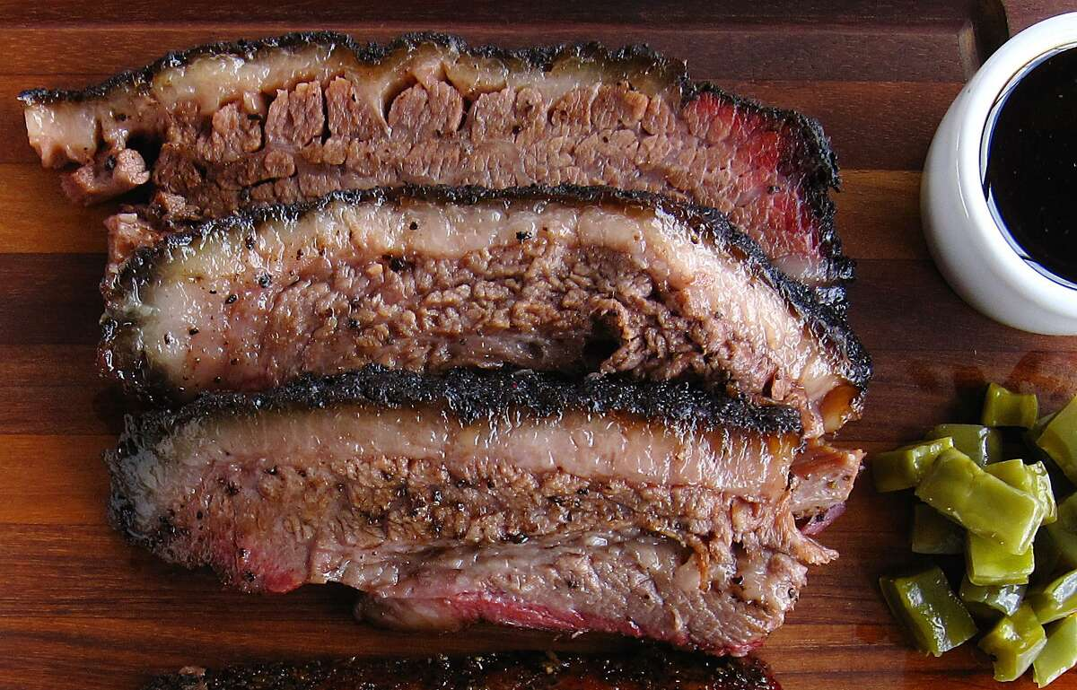 Brisket like this comes along just a few times every restaurant generation, spidered with fat in ambered suspension with salt-and-pepper armor. (Mike Sutter)2731 S. W.W. White Road, 210-885-9352, Facebook: 2M Smokehouse