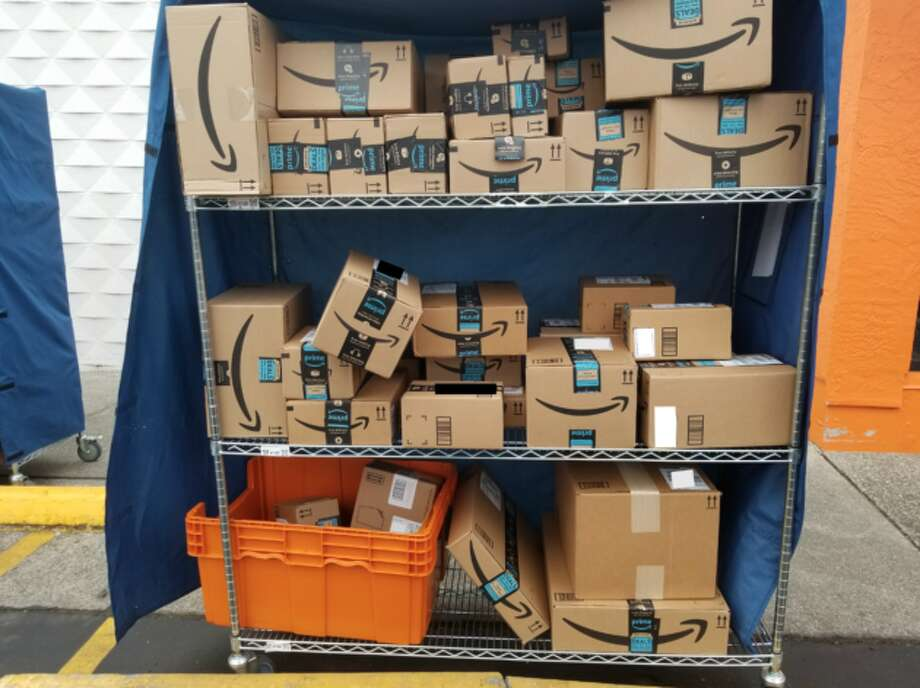 41 packages to deliver. Photo: GeekWire