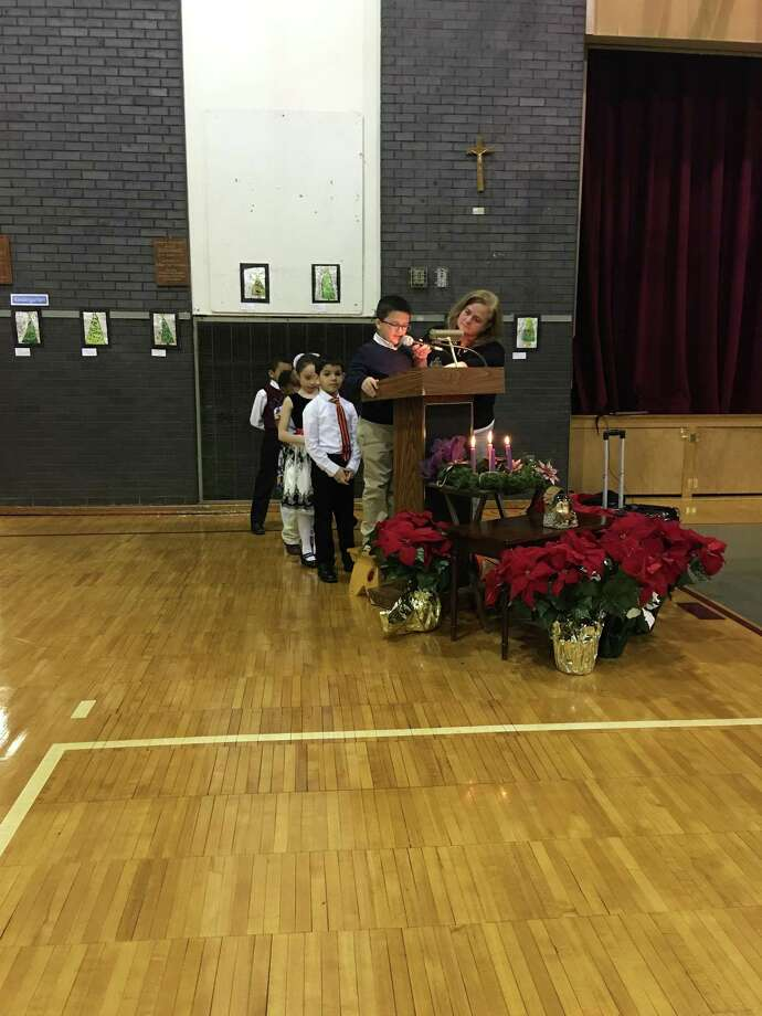 A prayer service was held at the St. Peter/St. Francis School in Torrington ahead of the Christmas holiday. Photo: CONTRIBUTED PHOTO