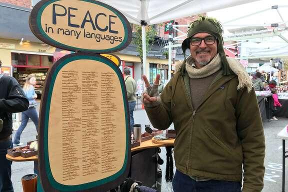 """Joe Murphy, """"the peace guy."""""""