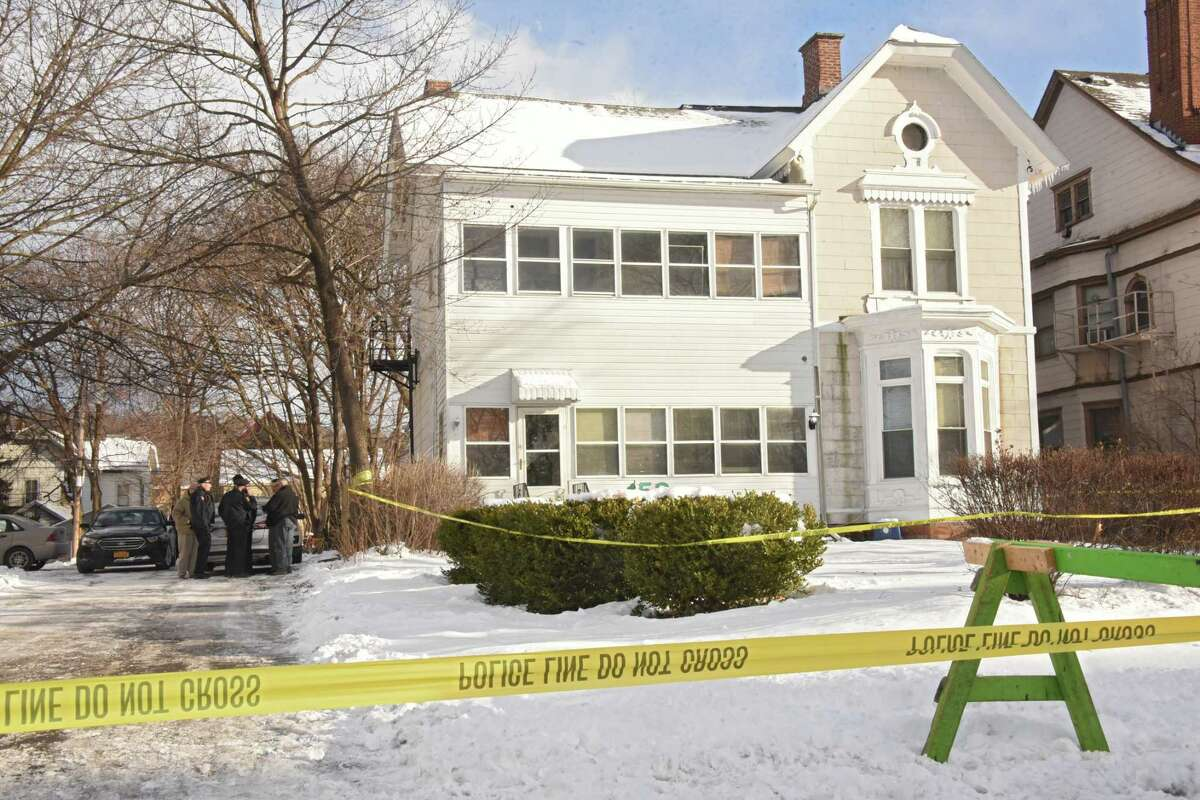 Troy police investigate multiple deaths at 158 Second Ave. on Tuesday, Dec. 26, 2017 in Troy, N.Y. (Lori Van Buren / Times Union)