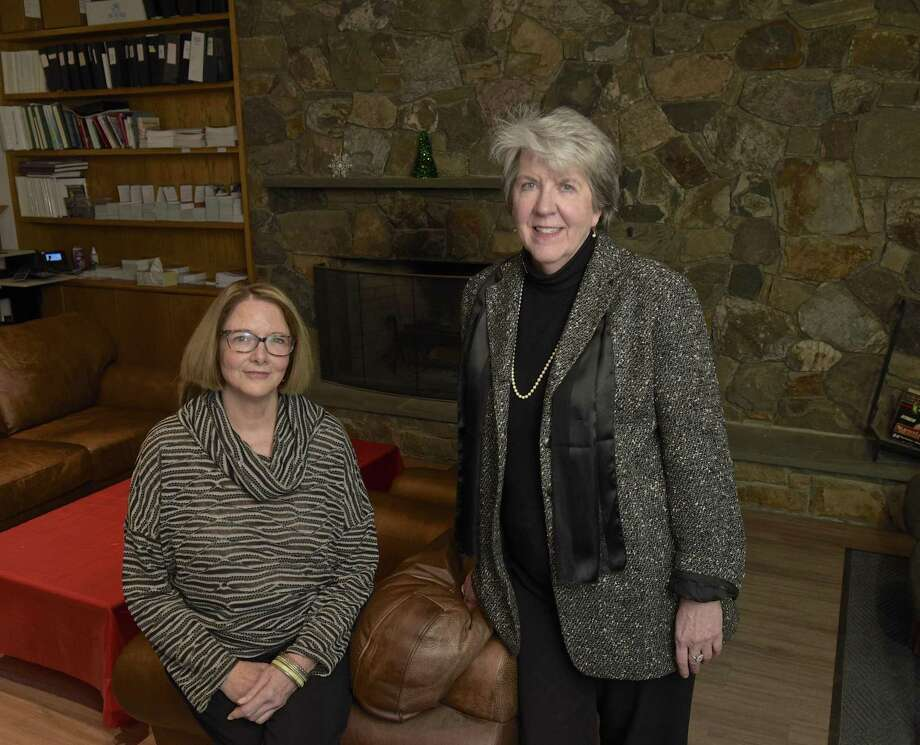 Irene Sherlock, left, a councilor, and Deborah Gurney, Director of outpatient services, of MCCA. Sherlock runs a coping program for MCCA that helps loved ones of substance abusers learn to deal with the addiction. Thursday, December 21, 2017, in Danbury, Conn. Photo: H John Voorhees III / Hearst Connecticut Media / The News-Times