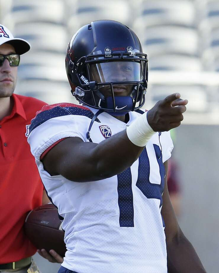 Arizona quarterback Khalil Tate in the first half during an NCAA college football game against Arizona State, Saturday, Nov 25, 2017, in Tempe, Ariz. (AP Photo/Rick Scuteri) Photo: Rick Scuteri, Associated Press