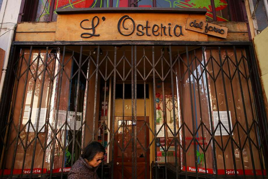 L'Osteria del Forno closed this year. Photo: Santiago Mejia, The Chronicle