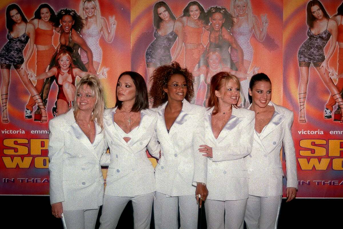 The Spice Girls announced their 2019 World Tour via Twitter on Monday. The Spice Girls, a British pop group, pose, from left: Emma Banton (Baby Spice), Victoria Adams (Posh Spice), Melanie Brown (Scary Spice), Geri Halliwell (Ginger Spice) and Melanie Chisholm (Sporty Spice) at the premiere of their movie