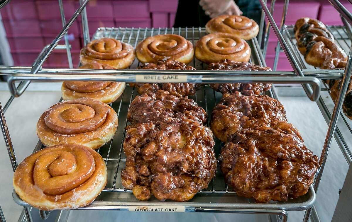 Donuts at A's Donuts in Santa Rosa, Calif., are seen on November 19th, 2017.