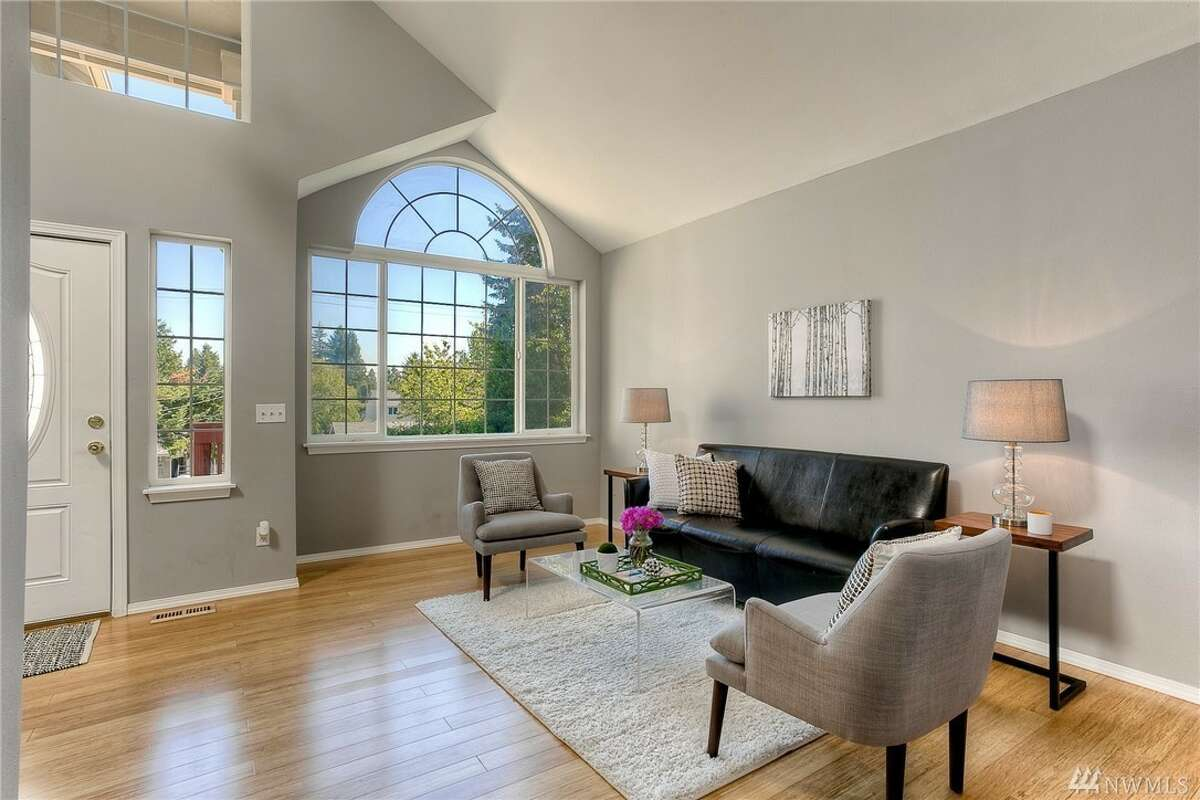 Enjoy vaulted ceilings in this home's living room, along with an open floor plan throughout. Built in 2004, this four-bedroom has definitions of spaces with openness between rooms. 13417 Occidental Ave. S., listed for $469,950. See the full listing below.