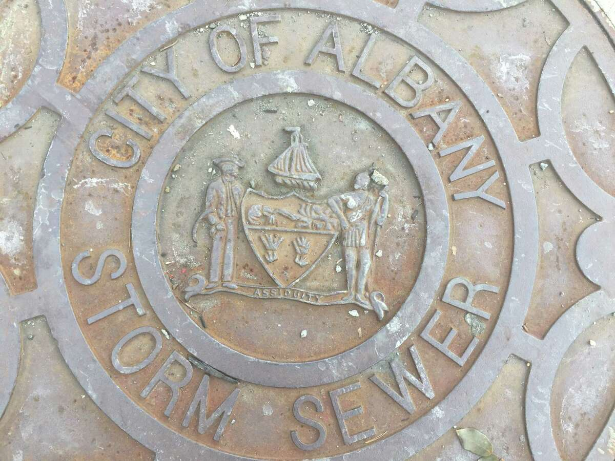 Manhole cover from Albany N.Y. (Kenneth Crowe II/Times Union)