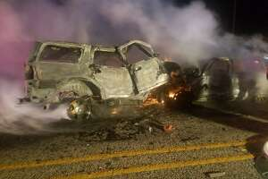 Three died early Tuesday after their vehicles collided near the Maverick and Zavala county lines Dec. 25, 2017.