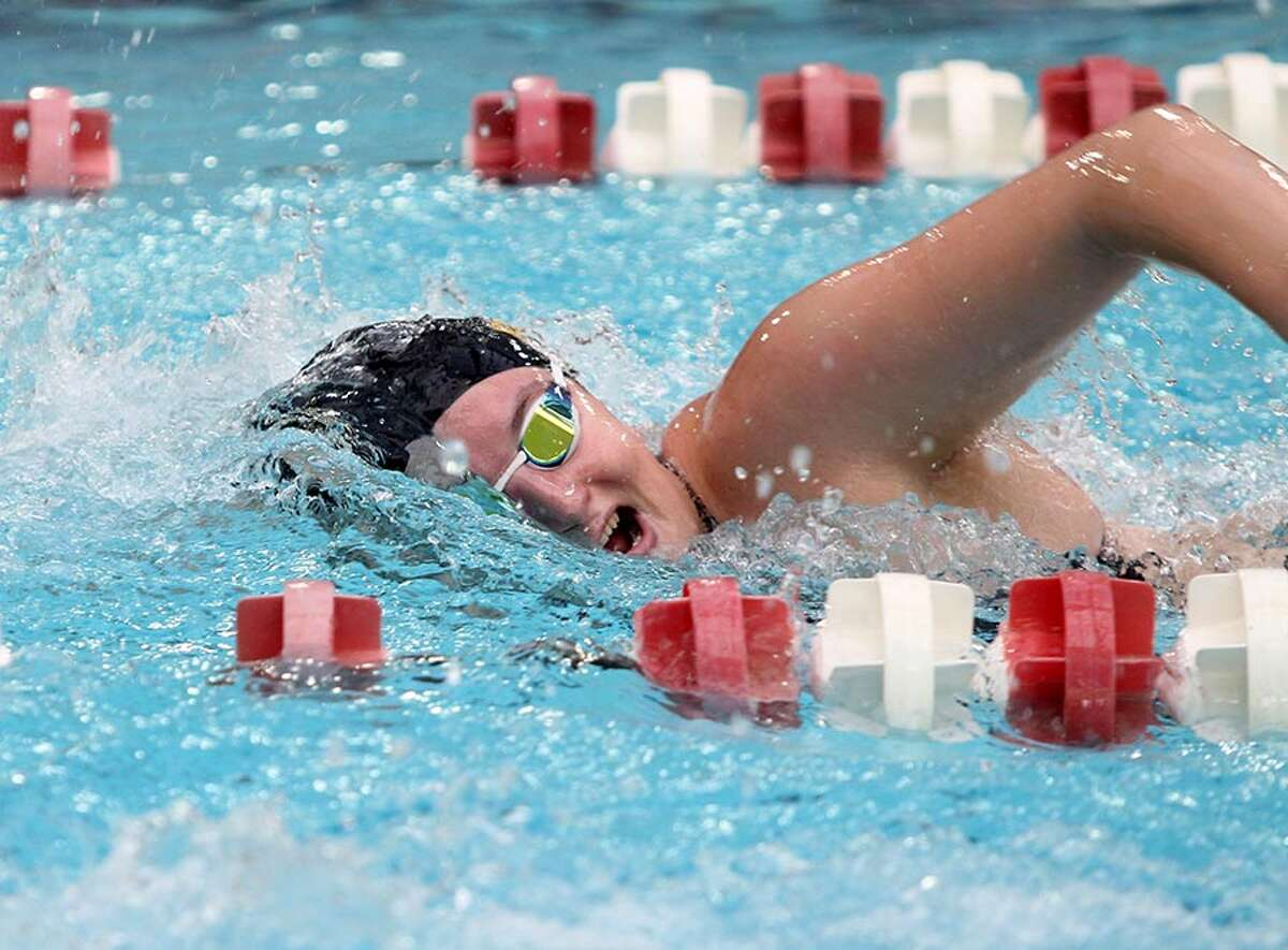Albany Academy for Girls graduate Colleen Quaglia of the Saint Rose women's swim team. (Courtesy of Saint Rose Athletics)