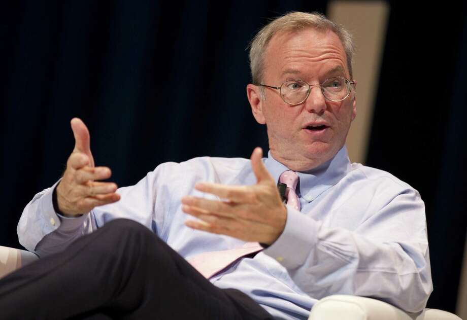 Former Google Chief Executive Eric Schmidt, here in Cannes, France, in June 2016, is stepping down as Alphabeté¢Â€Â™s executive chairman. (Mandoga Media/Sipa USA/TNS) Photo: Mandoga Media, MBR / Sipa USA