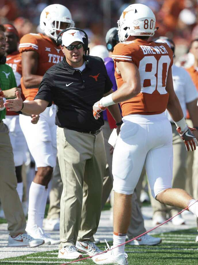 Texas coach Tom Herman hopes to use today's Texas Bowl as a springboard for his program to next season and beyond. Photo: Tom Reel, Staff / 2017 SAN ANTONIO EXPRESS-NEWS