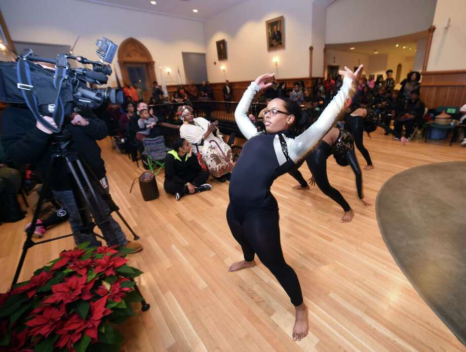 The Annual Kwanzaa Ceremony hosted by the Board of Alders Black & Hispanic Caucus at City Hall in New Haven on December 26, 2017. Photo: Arnold Gold / Hearst Connecticut Media / New Haven Register