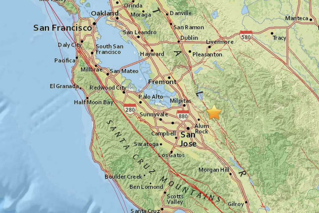 a magnitude 3 8 earthquake struck 9 2 miles northeast of san jose photo usgs