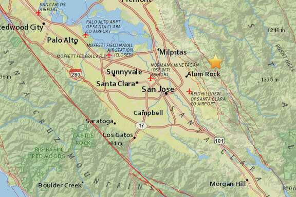 A magnitude 3.8 earthquake struck 9.2 miles northeast of San Jose.