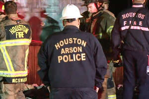 Houston Fire Department responds to a house fire late Tuesday evening. Authorities reported no injuries. Investigators say two men were arrested in connection to the fire. HFD has ruled the fire arson.