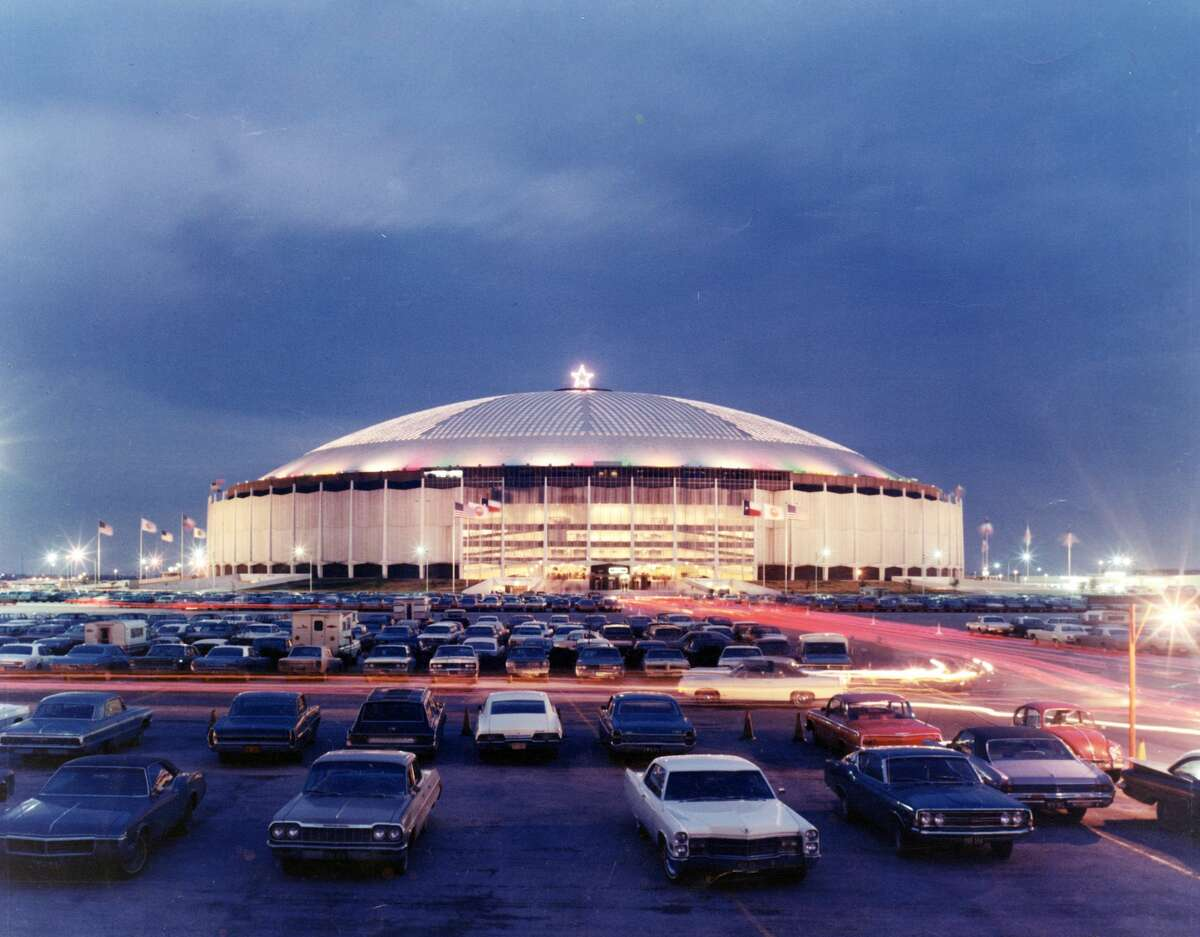 A general view of the exterior of the Astrodome as seen in 1969 in Houston.