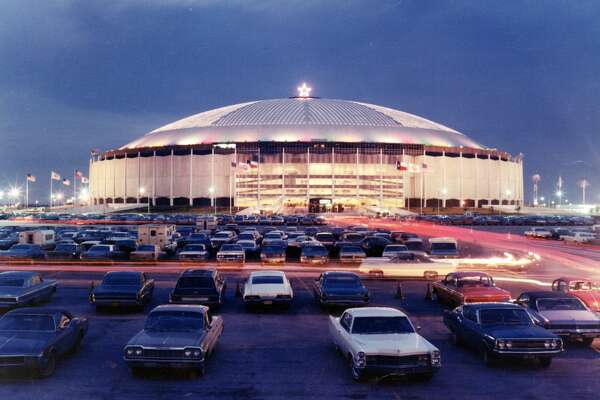 HOUSTON, TX - UNDATED: A general view of the exterior of the Astrodome as seen in 1969 in Houston, Texas. (Photo by Houston Astros/MLB Photos via Getty Images)