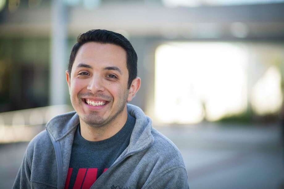 Carlos Cazares, who is graduating this month from the University of Houston with a degree in engineering, has been involved with Achievement Initiative for Minority Males, or AIMM, a program through the university's Center for Diversity and Inclusion, Tuesday, Dec. 12, 2017, in Houston. Photo: Mark Mulligan, Houston Chronicle / © 2017 Houston Chronicle