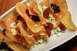 East Texas Caviar Service at Oxbow 7 restaurant in Le Meriden Hotel.  (For the Chronicle/Gary Fountain, December 18, 2017)