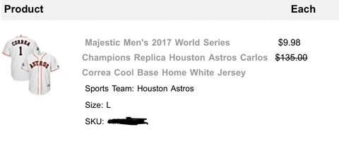 e3491579aac8 Dick s Sporting Goods is canceling orders of Astros jerseys ...