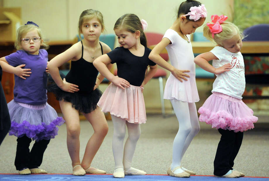 Midland Festival Ballet's spring break Cinderella Ballet Camp for kids ages four through six, photographed March 15, 2017, at Midland County Public Library downtown branch. James Durbin/Reporter-Telegram Photo: James Durbin