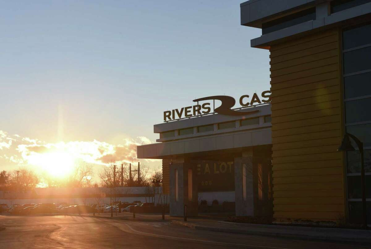 Exterior of Rivers Casino & Resort Schenectady at sunset on Wednesday, Feb. 1, 2017, in Schenectady, N.Y. (Will Waldron/Times Union)