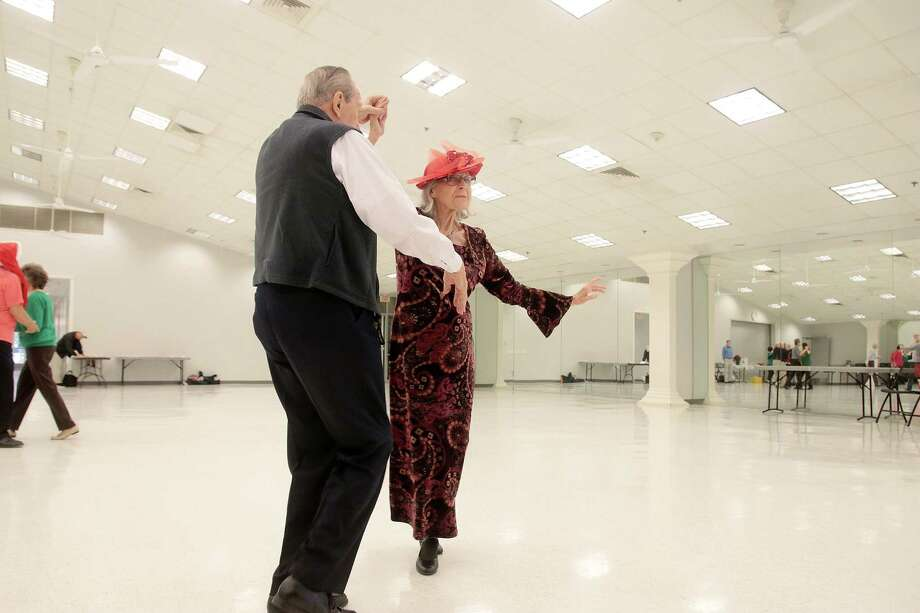 Katie Herranen, 93, enjoys ballroom dancing with John Petzet, 89. That's just one of the interest of Herranen, who placed second out of 15 contestants in last spring's Ms. Pasadena Senior Pageant. Every day, she walks a mile with her dog and spends mornings listening to classical music. Photo: Pin Lim, Freekance / Copyright Forest Photography, 2018