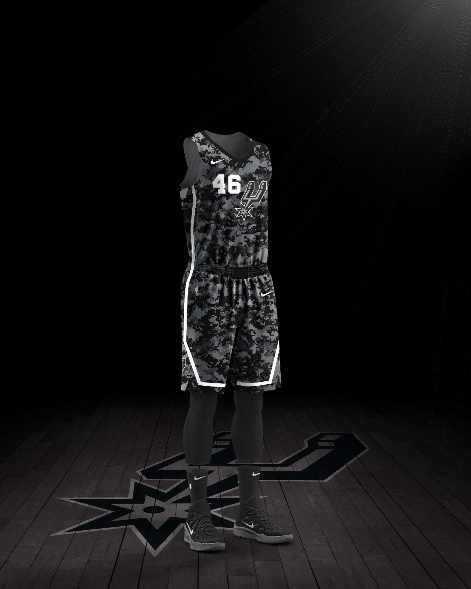 5b9400aec4f Spurs announce another camouflage jersey as this season's Nike City Edition  uniform - Laredo Morning Times