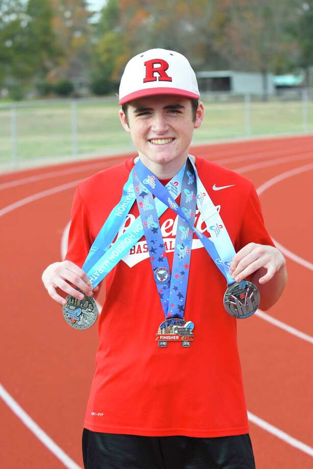 Rosehill Christian junior Jacob Filip is preparing to run the Chevron Houston Marathon for a fourth time on Jan. 14. Photo: Tony Gaines/ HCN, Photographer