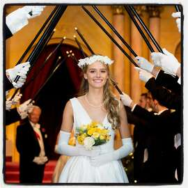 Debutante Sophia Barron at the 76th Cotillion at the Palace Hotel. Dec. 22, 2013.