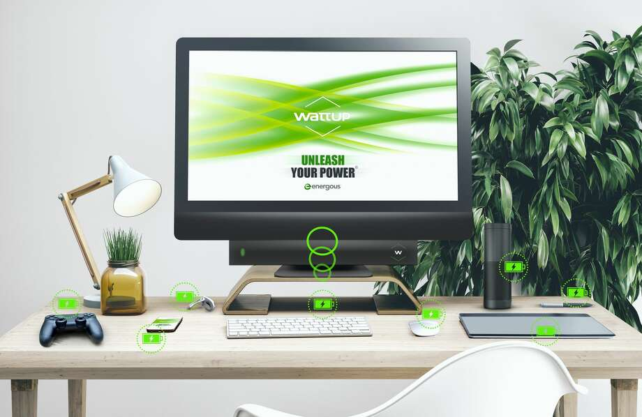 Energous' WattUp transmits power up to three feet away, and also can be used as a contact charger. Photo: Energous Corp.