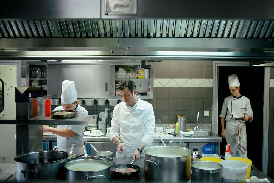 Jerome Brochot Cooks At Le France His One Star Michelin Restaurant In Montceau