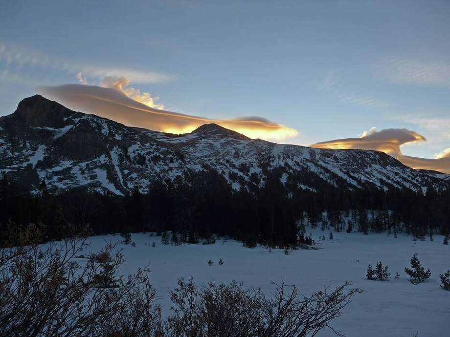 Lenticular clouds in Yosemite National Park near Tioga Pass at sunrise on Dec. 26, 2017 Photo: Yosemite National Park