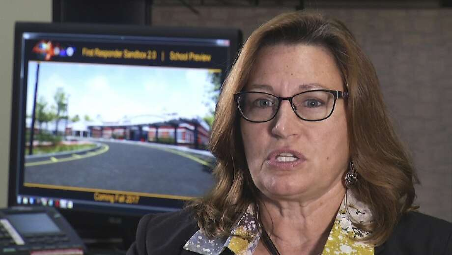 """""""We want to teach teachers how to respond as first responders,"""" said Tamara Griffin, a chief engineer for the $5.6 million computer-based simulator project. Photo: Joshua Replogle, Associated Press"""