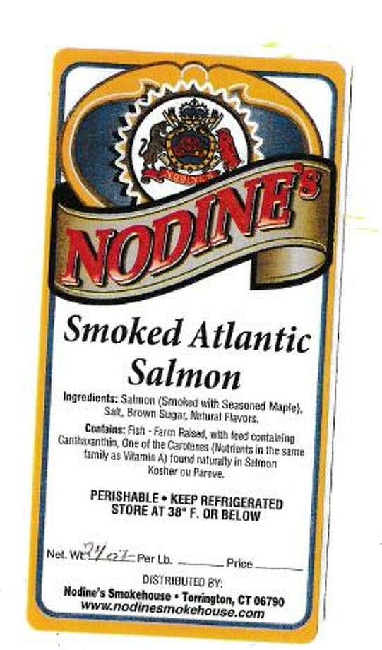 Nodine's Smokehouse, Inc. of Torrington is recalling two lot numbers of its smoked salmon, as they could be contaminated with listeria monocytogenes. Photo courtesy of the Food and Drug Administration. Photo: Contributed / Contributed