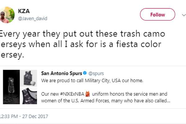 c23e7fdc7f9 ... San Antonio Express-News. 3of20 Javen david  Every year they put out  these trash camo jerseys when all I ask for is a fiesta color jersey.