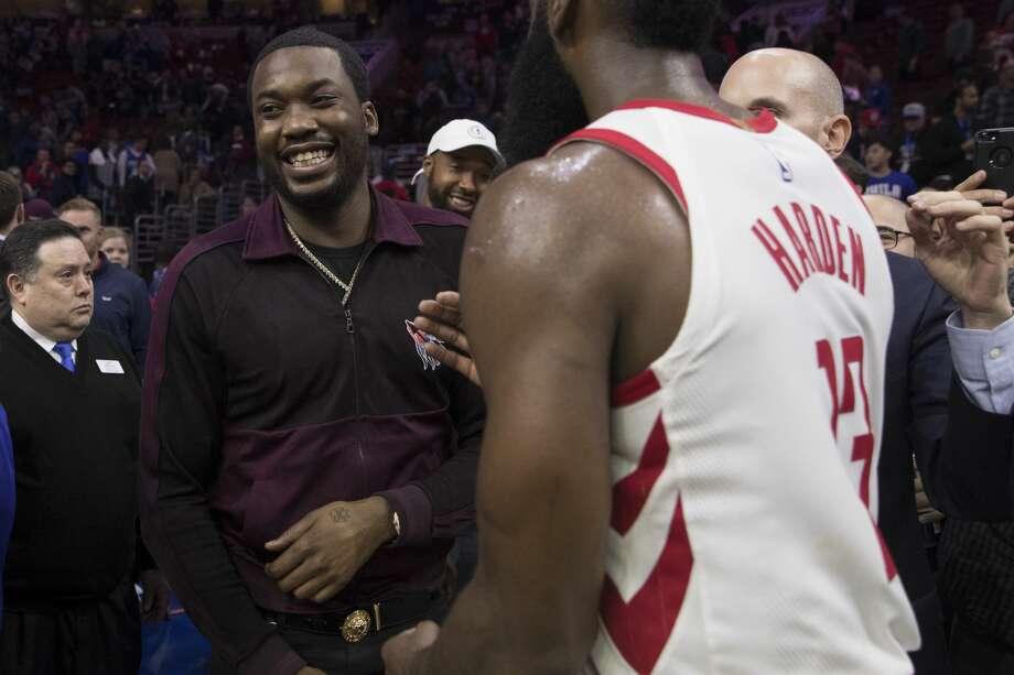 NBA star James Harden visited rapper Meek Mill in prison on Tuesday in a show of support, according to Harden's Instagram.See the top reasons to love James Haden on the court. Photo: Mitchell Leff/Getty Images