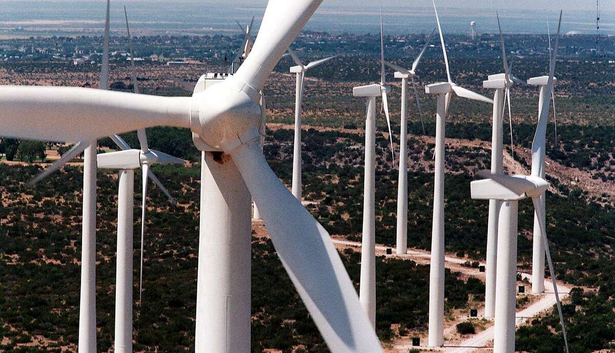 FILE: Wind turbines in West Texas in Big Spring. Texas is one of the windiest states in the nation.