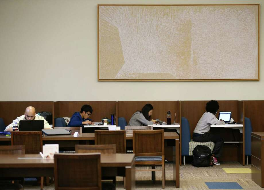 Students study inside Fondren Library at Rice University Wednesday, Dec. 6, 2017, in Houston. Photo: Godofredo A. Vasquez, Houston Chronicle / Godofredo A. Vasquez