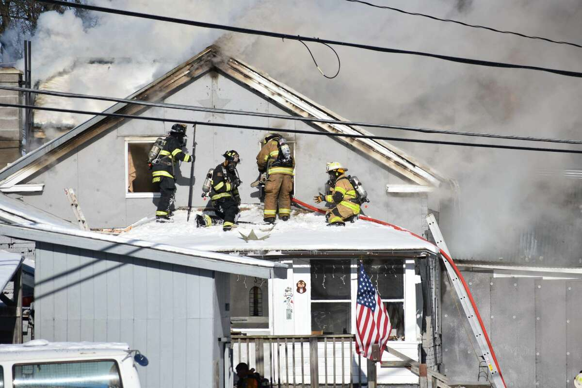 A fire at 103 Old Route 7 in Pittstown, Rensselaer County, on Wednesday closed the road for several hours.