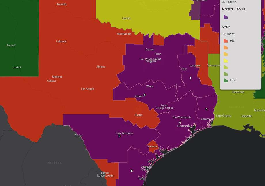 This Map Of Texas Explains Why Everyone You Know Has The Flu