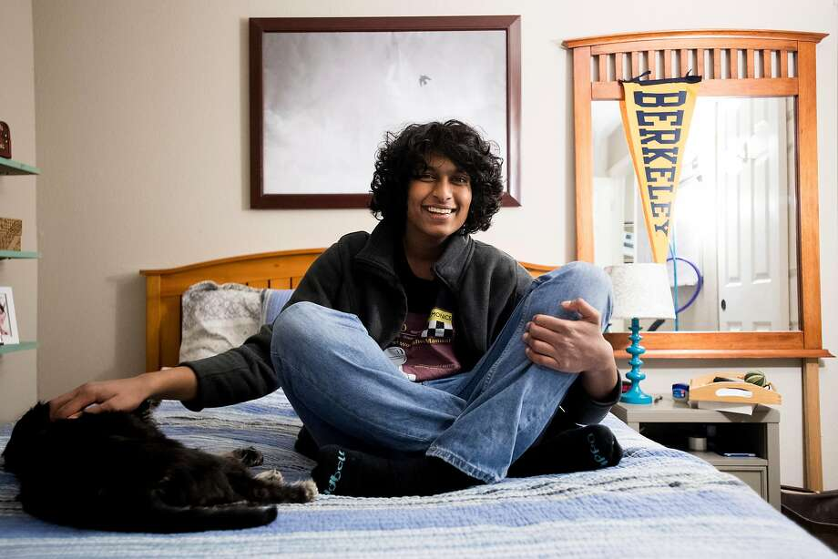Ajay Kumar Raja, who at 15 is the youngest UC Berkeley, at home in Concord. Photo: Noah Berger, Special To The Chronicle